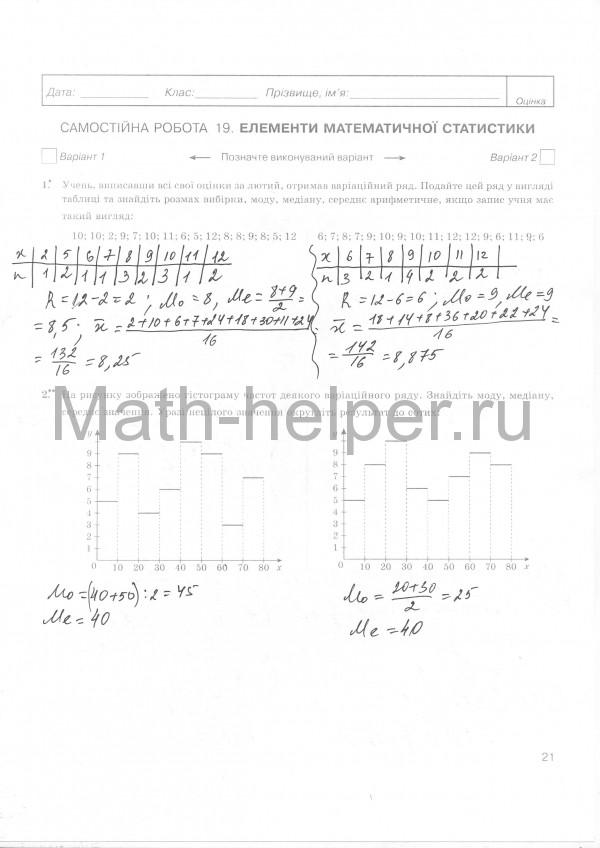 алгебра  початки аналзу 11 клас знченко